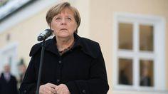 Bundeskanzlerin Angela Merkel an der Landtagsfraktion in Wildbad Kreuth.