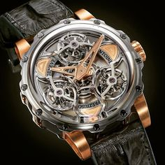 The Antoine Preziuso Tourbillon of Tourbillons - Because one Tourbillon isn't enough (There are 3 of them) - $420000 #antoine #tourbillon #triple #swiss #swisstime #time #love #watchgame #watch #wristgame #watchporn #wristporn #goodlife #lovewatches #ifonly #itsamansworld #luxury #instawatch #watchclub #menstyle #sofisticated #class #timepieces #dailywatch #hautehorology #caseback #watchesoftheday #watchesofinstagram #instawatch by youwatchyourself