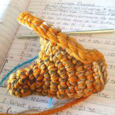 The next #Larry the monster's job is going to be to hold my yarn.  . . . #crochet #monstercrochet #amigurumi #crochetlove #handmade #crochetaddict #StitchinFriday #KnotByGranma by knotbygranma