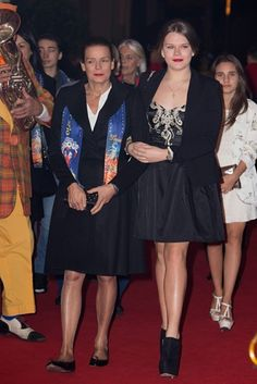 Noblesse et Royautés: Princess Stephanie and youngest daughter Camille Gottlieb attended a party for the Monte Carlo Circus, January 2015 Princess Caroline, Royal Princess, Princess Charlotte, Princess Diana, Grace Kelly, Monte Carlo, Camille Gottlieb, Desi Wedding Dresses, Kelly Monaco
