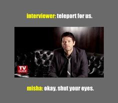 [GIF] Misha Collins interview