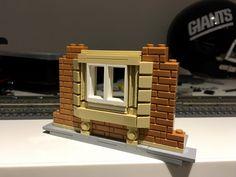 LEGO Station Window Technique by Britishbricks Lego Modular, Lego Design, Lego Station, Casa Lego, Lego Furniture, Minecraft Furniture, Construction Lego, Box Container, Lego Toys