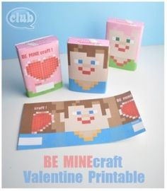 Ruth...for Cade/Minecraft 15 Valentine�s Day Printables | http://www.passionforsavings.com/2014/01/15-valentines-day-printables/
