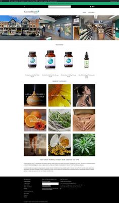 E-commerce website for Chester Health Store July 2020 Roman City, Chester, Body Care, Vitamins, Web Design, Website, Store, Health, Design Web