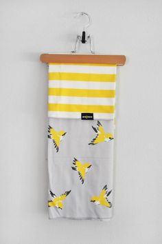 Organic Birds Swaddle Blanket and Burp Cloth by WrenandRumor, $46.00