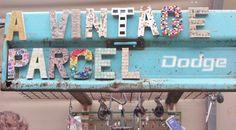 shop sign at junk bonanza via Junk Chic Cottage