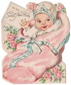 vintage birth announcement