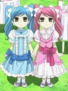 #Ouran High School Host Club, Little Twin Girls #LightBlue #Pink
