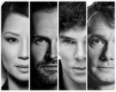 Lucy Liu // Jonny Lee Miller // Benedict Cumberbatch // Martin Freeman // Sherlock Holmes // Joan Watson // John Watson // Elementary