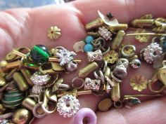 Vintage Findings Bead Caps Beads Neat Stuff by LeapingFrogDesigns