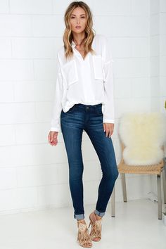 Wind and Fire Medium Wash Skinny Jeans at Lulus.com!