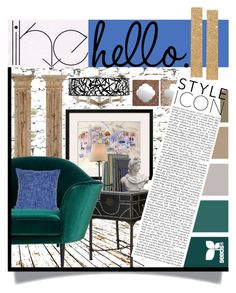 """""""Like, hello."""" by wuzzyswardrobe ❤ liked on Polyvore featuring interior, interiors, interior design, home, home decor, interior decorating, Home Decorators Collection, Safavieh, Giclee Glow and Romanelli"""