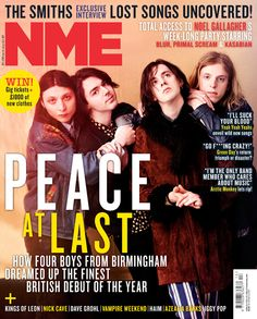 """Me and Harry [from Peace] met twice before we started dating. First at the NME Awards and then at a bar. I just don't remember at all. Nme Magazine, Magazine Covers, Gig Tickets, Lost Song, Primal Scream, Noel Gallagher, Debut Album, News Songs, Will Smith"