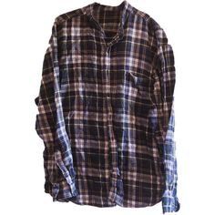 Vintage Nehru Collar Flannel Blue and Green Men's Large ($18) ❤ liked on Polyvore featuring men's fashion, men's clothing, men's shirts, men's casual shirts, tops, shirts, blouses, mens green flannel shirt, mens blue flannel shirt and mens long sleeve collared shirts