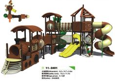 outdoor playground(Train Slide) CE approval