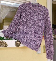 Tribeca Variegated Boho Sweater L Fun Multi Cute Comfy Soft Party Wear w/Jeans…