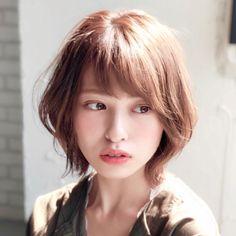Haircuts For Medium Length Hair, Short Bob Cuts, Japanese Hairstyle, Perm, Pretty Hairstyles, New Hair, Short Hair Styles, Hair Cuts, Hair Color