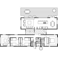 Like this floor plan New House Plans, Modern House Plans, House Floor Plans, Dream Home Design, House Design, Sustainable Building Design, Espace Design, Architectural Floor Plans, Shipping Container House Plans