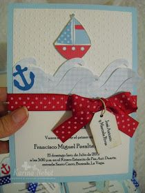 Hola!    El tema de marinero es uno muy buscado   y es que es taaaan bello!!!   Mis clientes me lo solicitan mucho y en el día de hoy   les... Nautical Party, 2nd Baby, Holidays And Events, Baby Boy Shower, Party Themes, Theme Ideas, First Birthdays, Invitations, Christmas Ornaments