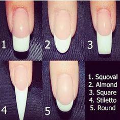 Acrylic Nail Shapes Squoval