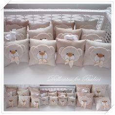 Delicatess for Babies - Kit urso para maternidade - Dellicatess for Babies Baby Crafts, Felt Crafts, Diy And Crafts, Baby Shawer, Baby Kit, Bomboniere Ideas, Baby Shower Favours, Lavender Sachets, Sewing Pillows