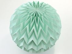 BUBBLE: Hanging Decor Origami Paper Ball  Mint / by FiberStore