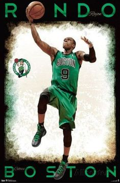 Rajon Rondo - Boston Celtics Sports Poster - 56 x 86 cm Dorm Posters, Sports Posters, Basketball Wall, Soccer, Nba Sports, Phil Heath, Poster Design Inspiration, Boston Celtics, Best Dad