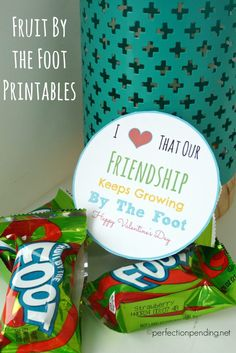 If you're looking for an easy Valentine's day printable idea for Valentine's day class parties, then this printable is perfect. Add it to a fruit by the foot, and you're done! The birthday printable version makes a perfect party favor idea for birthday parties, too!