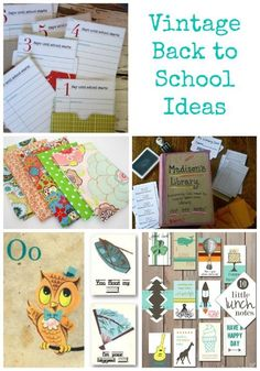 Vintage Back to School activities & printables | First day of school decorating & lunch ideas!
