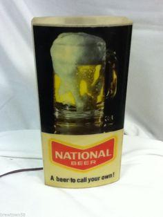 PN6 NATIONAL BEER SIGN LIGHTED BAR SIGNS LIGHT VINTAGE BACK BAR DISPLAY SCONCE Hobbit Hole, The Hobbit, Lighted Bar Signs, Vintage Beer Signs, Back Bar, Bar Displays, Sign Lighting, Light Beer, Brewery