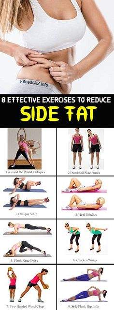 8 effective exercises to reduce the side fat of the waist . 8 effective exercises to reduce the side fat of the waist # workout … reduce Fitness Workouts, Fitness Humor, Easy Workouts, Fitness Tips, Side Workouts, Cardio Workouts, Side Fat Workout, Waist Workout, Belly Fat Workout
