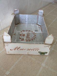 Cajita de fresas con decoupage y estarcido | Aprender manualidades es facilisimo.com