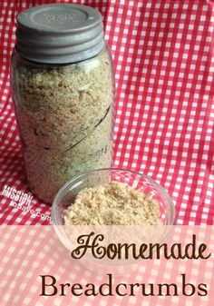 Don't waste the heel and crusts!  Turn them into Homemade Breadcrumbs.  It's an easy frugal living hack!
