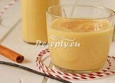 ▷ Babičin pravý vaječný koňak recept - VajecnyKonak.cz Glass Of Milk, Hamburger, Pudding, Drinks, Desserts, Food, Arizona, Syrup, Drinking