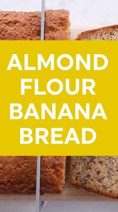 Banana Bread Almond Flour, Flours Banana Bread, Gluten Free Banana Bread, Almond Flour Recipes, Banana Bread Recipes, Gluten Free Baking, Gluten Free Desserts, Gluten Free Recipes, Keto Recipes