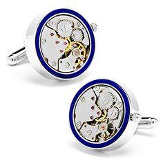 Silver & Lapis Intarsien Uhrwerk Manschettenknöpfe - http://schmuckhaus.online/cufflinks-inc/silver-lapis-intarsien-uhrwerk