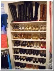 Image result for walk in robe shoe storage