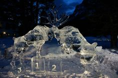 The Banff Ice Sculpture Festival (image from Banff Lake Louise Tourism)