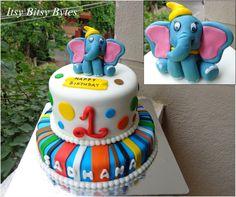 Birthday cake with Dumbo