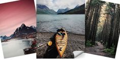 Print your favorite photos on the new peel & stick fabric poster from snapbox and watch your home come to life