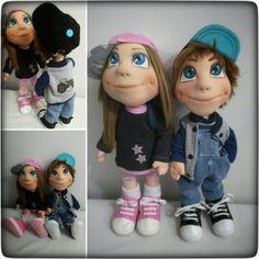 My handmade dolls Nela a Matěj 😍