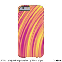 Yellow, Orange and Purple Curved Ripples Pattern Orange And Purple, Yellow, Iphone Case Covers, Cover Design, Pattern, Patterns, Model, Cover Art, Swatch