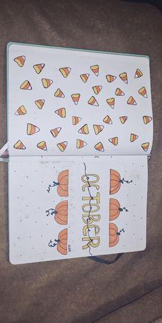 Titelblatt zum Thema Bullet Journal October - New Sites Bullet Journal Reading Log, 2017 Bullet Journal, Bullet Journal October, Bullet Journal Headers, Bullet Journal Cover Page, Bullet Journal Aesthetic, Bullet Journal Themes, Bullet Journal Spread, Bullet Journal Layout
