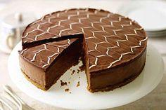Аппетитный шоколадный чизкейк