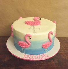 Cakes by Mindy: Pink Flamingo Cake 10""