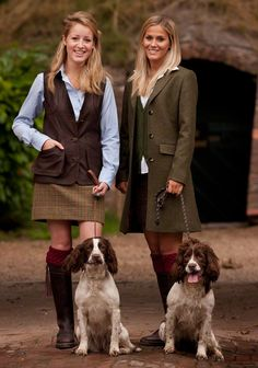 Really Wild clothing company-Tweed, Leather and Spaniels- Photo credit- Paul Fosbury English Country Fashion, British Country Style, Country Wear, Country Outfits, Country Girls, Winter Outfits, Country Style Fashion, British Style Outfits, Country Women