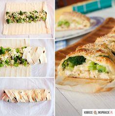 Kurczak, brokuły, ser- w cieście francuskim!