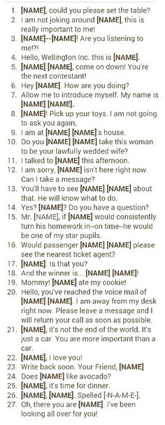 From pinterest.com/meggiemaye.  Boy's version by request. Final run-through when trying out a baby boy's name idea. You can also use the test drive on http://www.babynamegenie.com/baby-name-test-drive.php to put your baby's name in a variety of situations! Baby boy names. Trying out your idea for a baby boy's name.