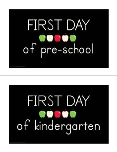 first day of school picture signage