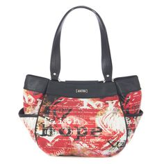 The Hope (red) Slip-On Shell for Demi Bags has an edgy vibe while delivering an undeniable message of determination in the face of adversity. Faith, hope and love are beautifully defined in black and white on a smooth, red faux leather background. It's not just a Shell—it's a work of art. Catch the Spirit of Hope—a portion of every purchase of a Hope Shell goes directly to cancer research.